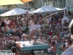 Pussy Flashing Pool Party Slut Contest 2018 Key West p1
