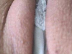 Panties between my pussylips
