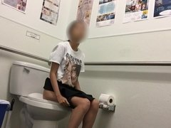 Cute Asian girl takes a quick piss part 1