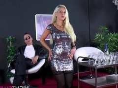 German Blond Big Boobs like to fuck
