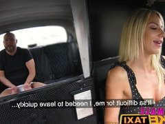 Female Fake Taxi Busty blonde rides lucky passengers cock