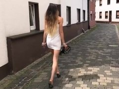 Lara Goes Out For A Summer Party In High Heel Mules