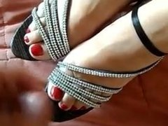 cum on feet and heels