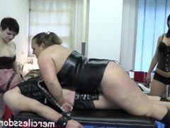 Lesbian Revenge Part 2 - Three Merciless Girls on One Helpless Slave