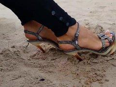 Beautiful legs, feet and high-heel sandals 5