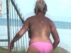 Topless Milf Voyeur