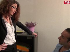 LETSDOEIT - French Boss Lady Takes a Big Cock on Her Desk