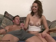 Teen Jerks Off Cock for Big Load
