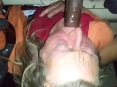 64yo granny give car blowjob to bbc
