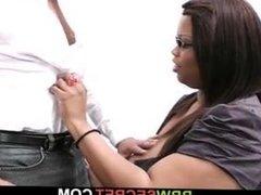 Boss cheating with big boobs ebony secretary