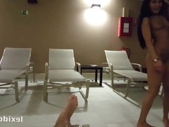 Nearly caught cock sucking in the spa! - Lexi Dona