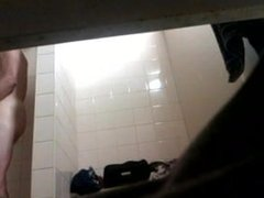 Spy Cam  Young Guy With Big Cock in Showers