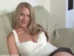 Real amateur with big natural tits sucks and fucks