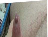 Me wanking my cock while its all lubed up