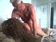 Old man fucking two prostitutes, the video is narrated funny