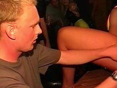 Dutch curly redhead gets fucked in the local bar