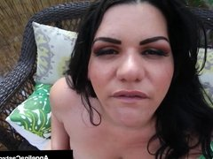 Cuban Blowjob Princess Angelina Castro Sucks Off Camera Man!
