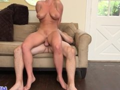 MILF Trip - Hot Blonde MILF shows what a slut she is - Part 2