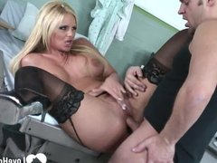 Horny MILF in stockings wants to fuck
