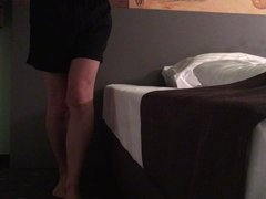 Nice ass with tail ass plug