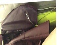 cum in leather skirt
