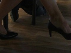 Candid feet and heels at work #14
