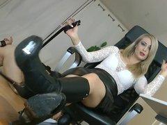 Blonde Femdom Destroying Slave Balls Music By ivvill