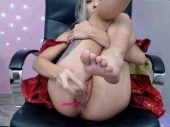 Blonde Orgasm Squirt Webcam