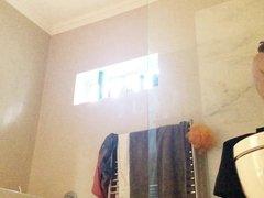 Brunette wife exposed on hidden cam