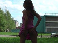 Russian cutie-flasher Polina Zaitseva