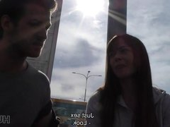 HUNT4K. Couple is in need of cash for motel so why girl...