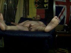 Big Chubby Bear Jerk and feet
