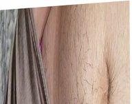 Rubbing in a Victoria secret thong