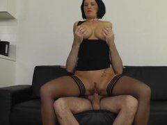Heidi Hills gets a big load of cum in her mouth