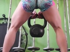 Gym Workout Squats Ass Pussy Cameltoe Academia Cavala Pacote