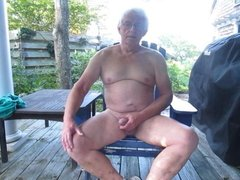 Wank on the patio