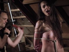 Bdsm and bondage sex with a passionate teen that wants to be