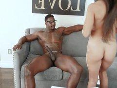 Lilly Hall -blowjob big black cock.Special HQPornogratis vid