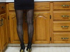 Little Black Dress and Back Seam Pantyhose Again