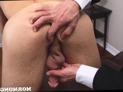 Mormon Jock Gets Cock Lubed Up And Jerked Off By Bishop