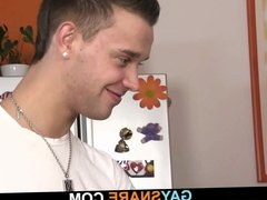 His first time blowjob and gaysex
