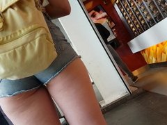 Candid ass in shorts