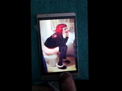 A girl on a toilet cum tribute 60