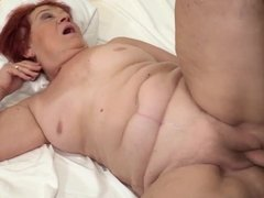 Granny Marsha remembers how her young lover perfectly fucked
