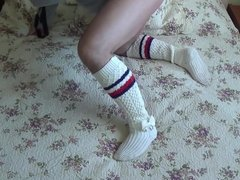 Fitting And Changing My Knee Socks  - part 1