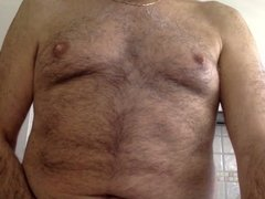 Italian daddy show his cock on cam
