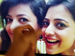 Kajal Aggarwal & Nisha Aggarwal Cum Tribute With Lotion