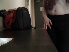 Master Undressing Me And Strokes My Breasts And Bald Pussy