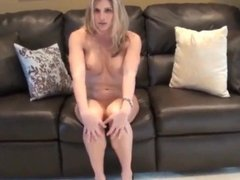 busty blonde amateur milf filled up with cum