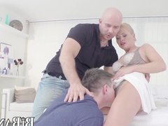 Bi stud sucks pussy while being fucked in the ass
